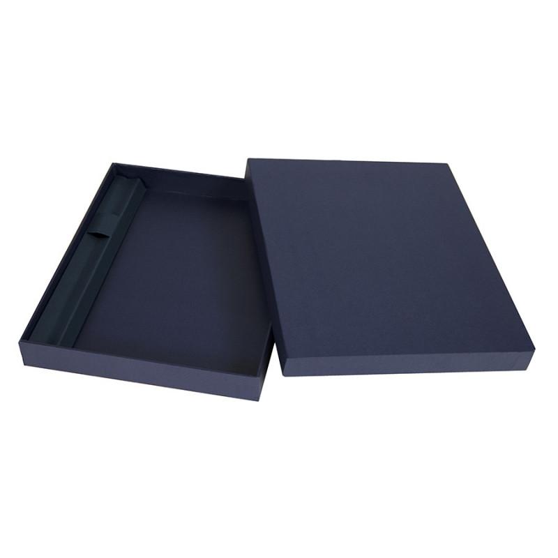Коробка под ежедневник 130*210 мм и ручку, Темно-синий, -, 24740 26