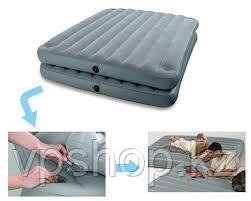 Двуспальная надувная кровать  Queen 2-in-1 INTEX 67744
