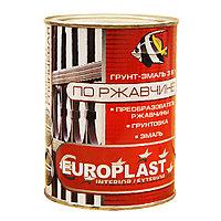 Грунт-эмаль по ржавчине красно-коричневая euroclass (6 кг)