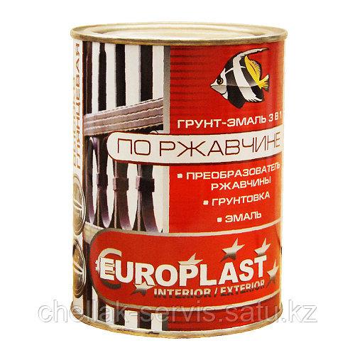 Грунт-эмаль по ржавчине черная euroclass (6 кг)