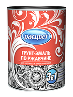 Грунт-эмаль по ржавчине шоколадная Расцвет (1.9 кг)