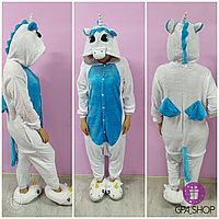 Пижама кигуруми пегас бело-голубой