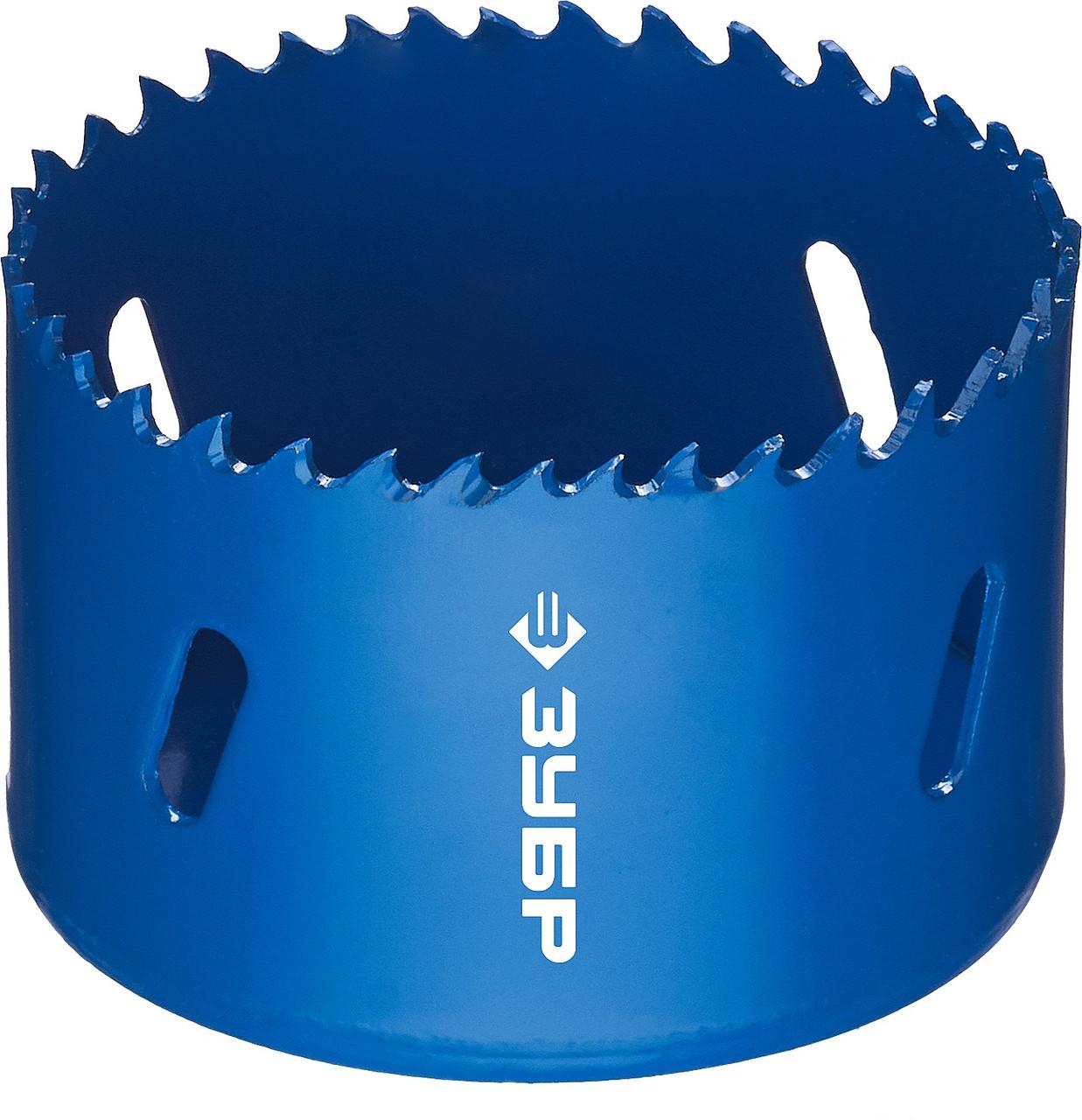 Коронка биметаллическая, быстрорежущая сталь, глубина сверления до 38мм, d-68мм, ЗУБР