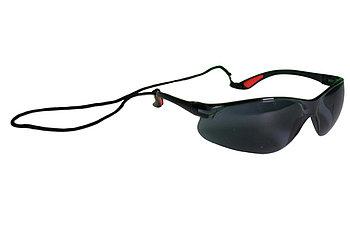 Очки защитные темные со шнурком по BS EN 166:2001 WURTH