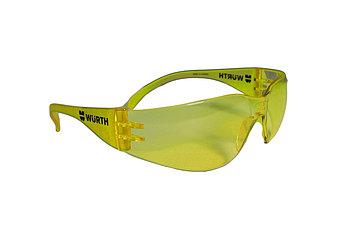 Очки защитные желтые Standart по EN166-2001 с шир.дужками WURTH