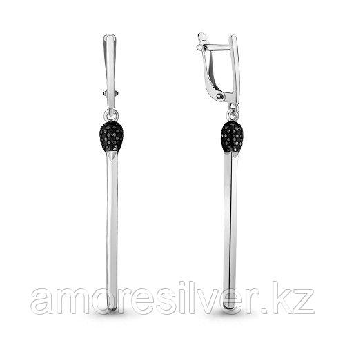 Серебряные серьги с нанокристаллом синт.  Aquamarine 48067Ч