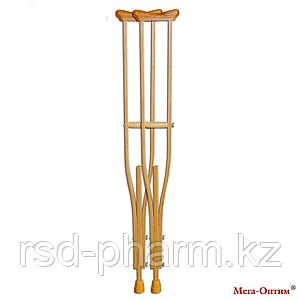 Костыли подмышечные с деревянными ручками 01-К
