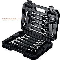 Набор комбинированных гаечных ключей, трещоточные 12 шт, 8 - 19 мм, ЗУБР, фото 2