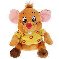 """Мульти-пульти Мягкая игрушка """"Мышка, в сырной рубашке"""", 16см"""