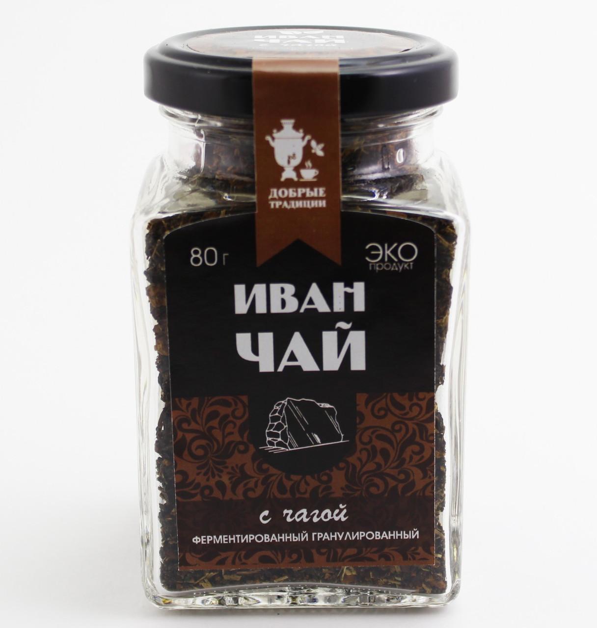 Иван-чай гран.с чагой,банка, 80 г