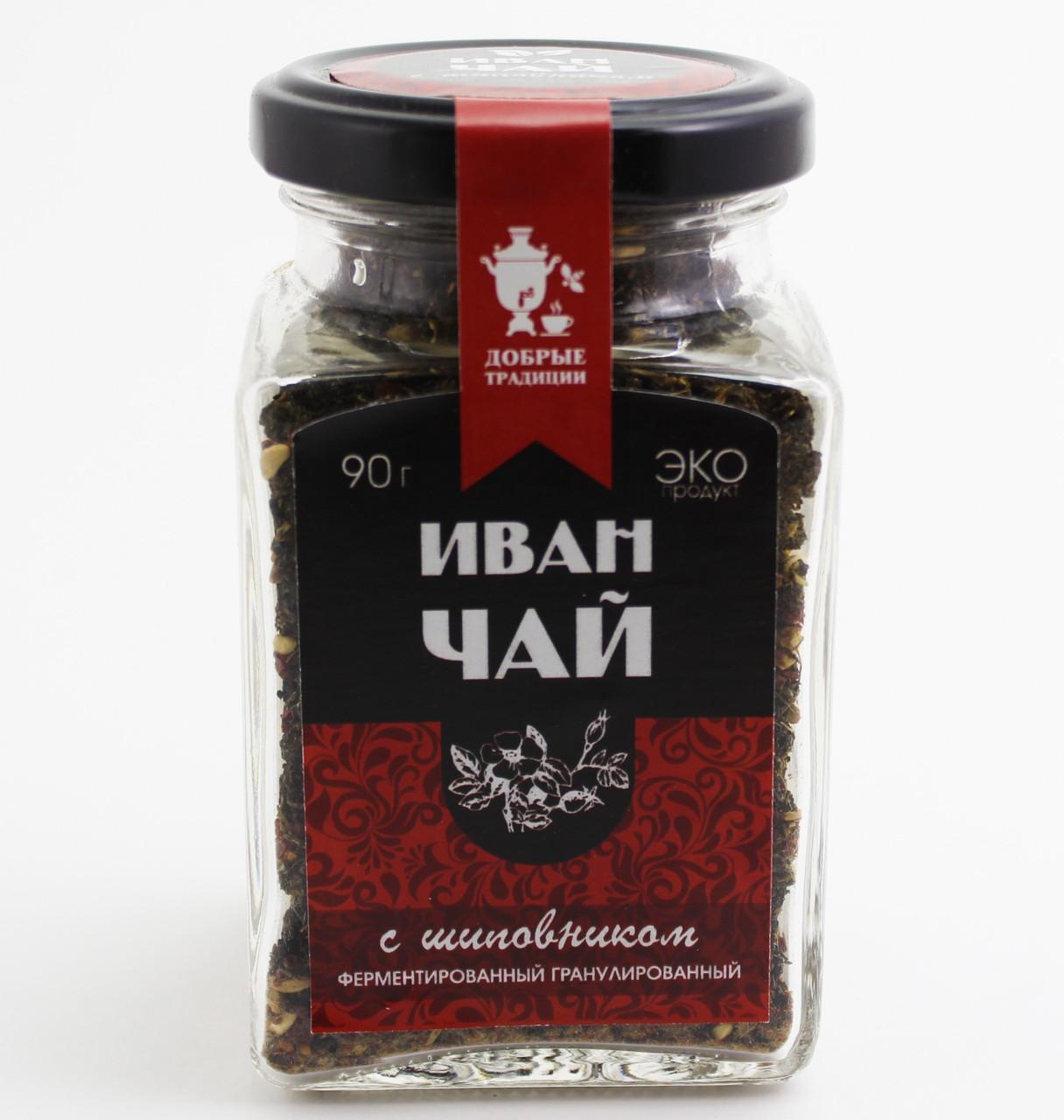 Иван-чай гран.с шиповником,банка, 80 г