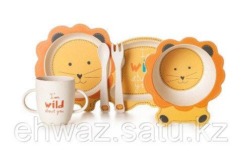 Набор детской бамбуковой посуды Тигр