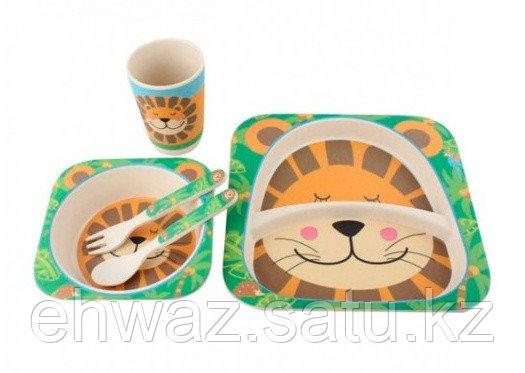 Набор детской бамбуковой посуды Лев