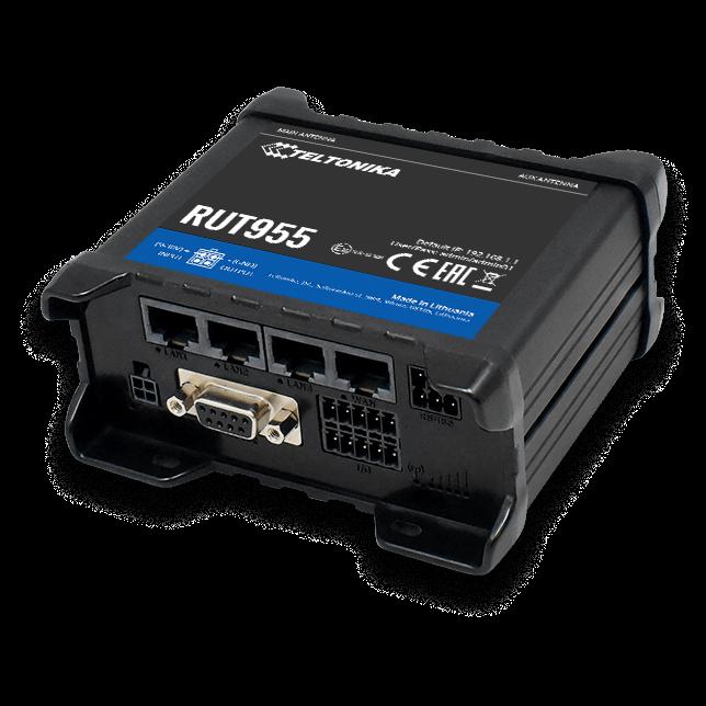 4G LTE-роутер Teltonika RUT955 GNSS+DIN-Rail