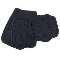 Коврики автомобильные TORSO, резина, 70х50 см, 50х49 см, черный, набор 4 шт