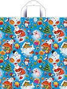 """Пакет (мешок) петля ПНД 42х38см, 37мкм, """"Новогодние забавы"""", 50 шт"""
