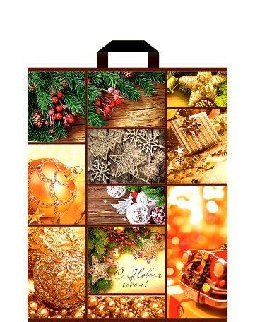 "Пакет (мешок) петля ПВД 40х30см, 60мкм, ""Счастливого Рождества"", 25 шт"
