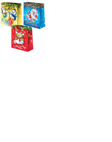 """Пакет ламин. 18х22.7х10см Дизайн в асс. """"Микс Новый год №3"""", бум., фото 2"""