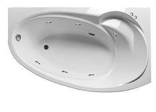 Акриловая гидромассажная ванна Джуллиана 160х95х65 см.(Общий массаж, спина, ноги), фото 3