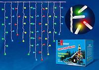 Бахрома светодиодная с контроллером, 200 светодиодов, 3 м, синий, IP20, провод прозрачный