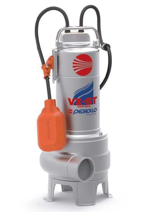 Погружной электронасос для сточных вод Pedrollo VXm 10/35-MF (однофазный, трехфазный)