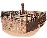 Мемориальный комплекс стены сплитерный блок Кордай