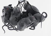 Набор резиновых серых крыс 10 шт муляж 6 см декорации для Хэллоуина