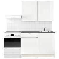 Кухня КНОКСХУЛЬТ глянцевый, белый, 120x61x220 см ИКЕА, IKEA, фото 1