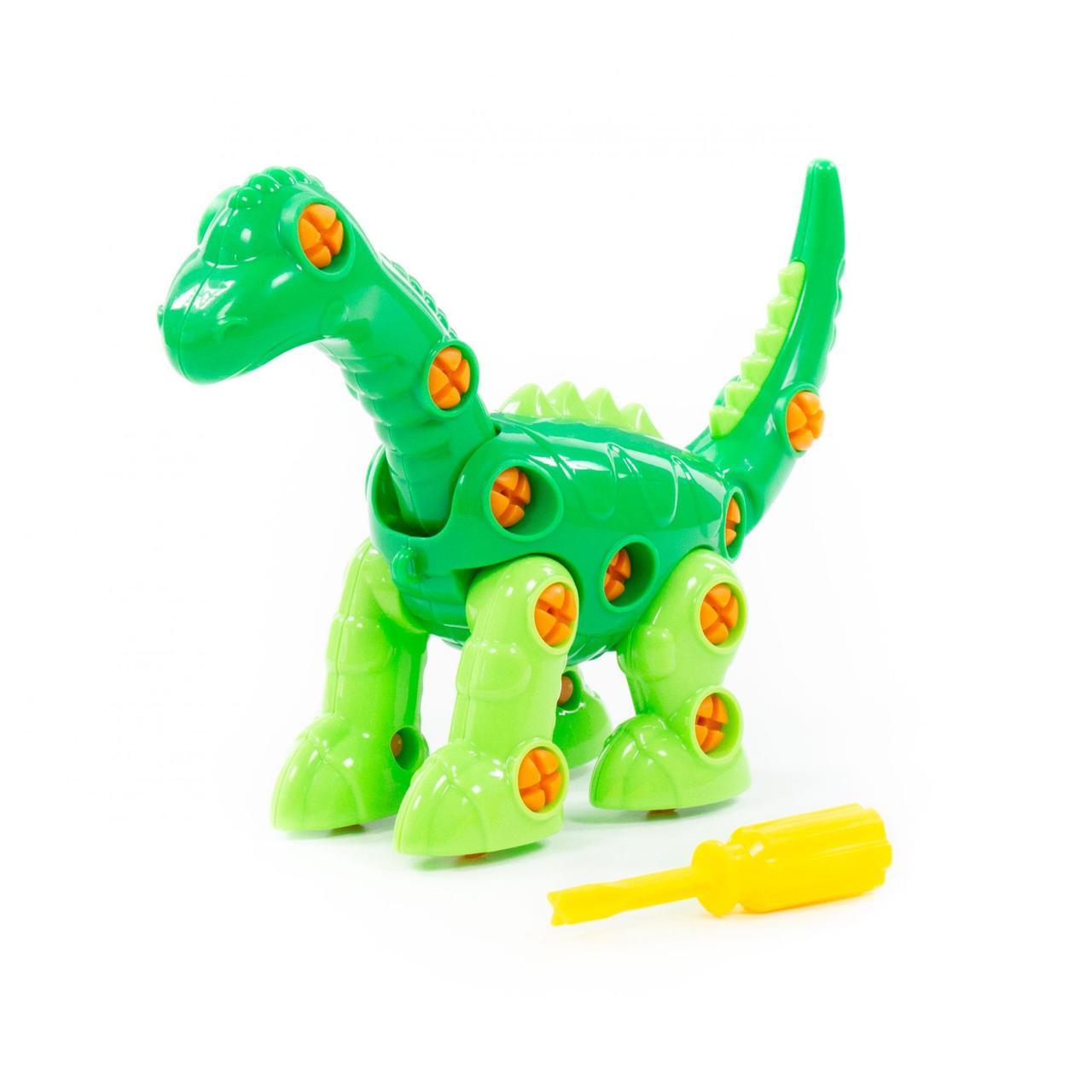 """Конструктор-динозавр """"Диплодок"""" (35 элементов) (в пакете)"""