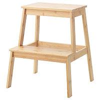 Табурет-лестница ТЕНГУЛЬТ бамбук, 43x40x50 см ИКЕА, IKEA