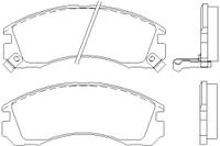 Тормозные колодки, TEXTAR, передние