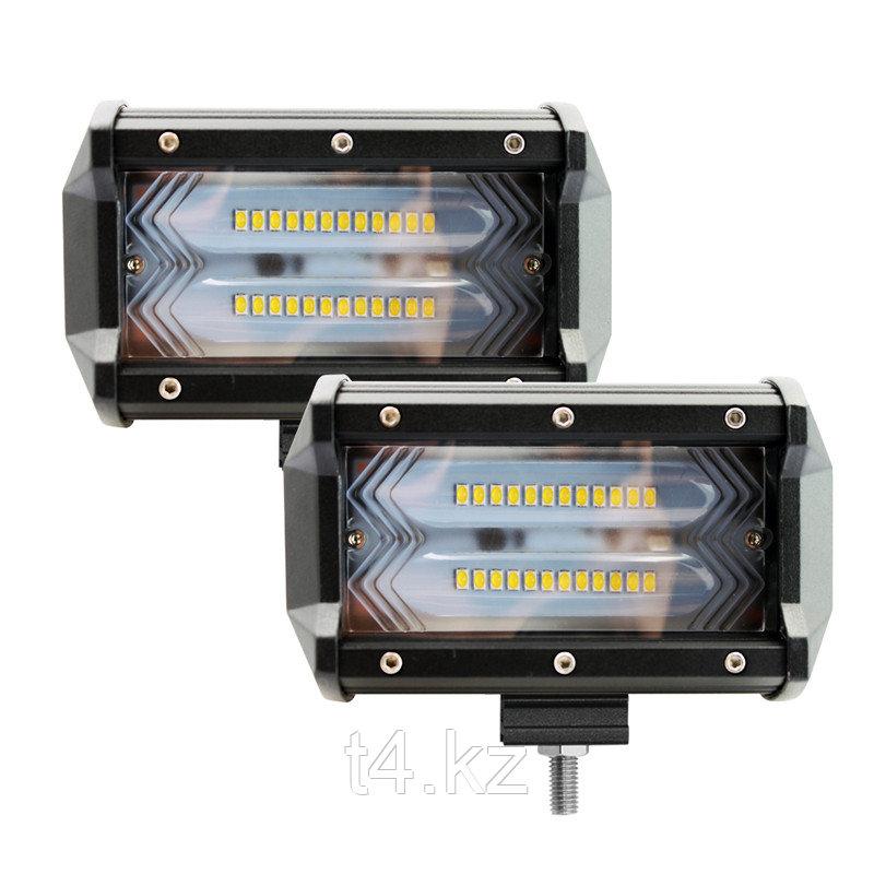 Фары дополнительного света светодиодные 127 мм / 72W - T4