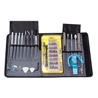 Набор инструментов для точных работ,73пр(пинцеты, лопатки, линейка150мм, нож канцелярский, захват, биты