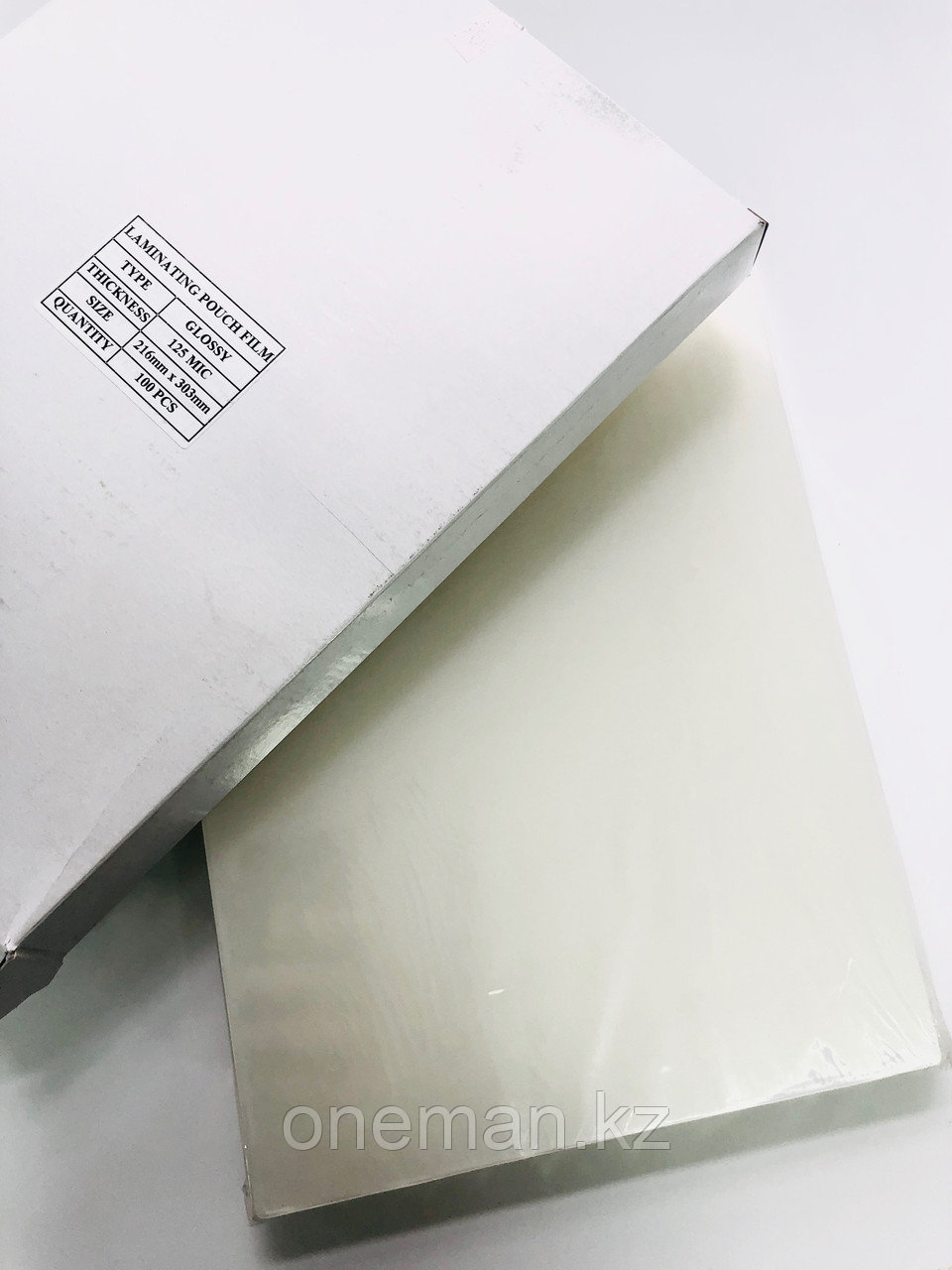 Плёнка для ламинирования пакетная 125 мкн, А4 (216х303мм)