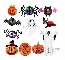 Бумажная подвеска на Хэллоуин (паук, ведьма,. тыква, летучая мышь, призрак)