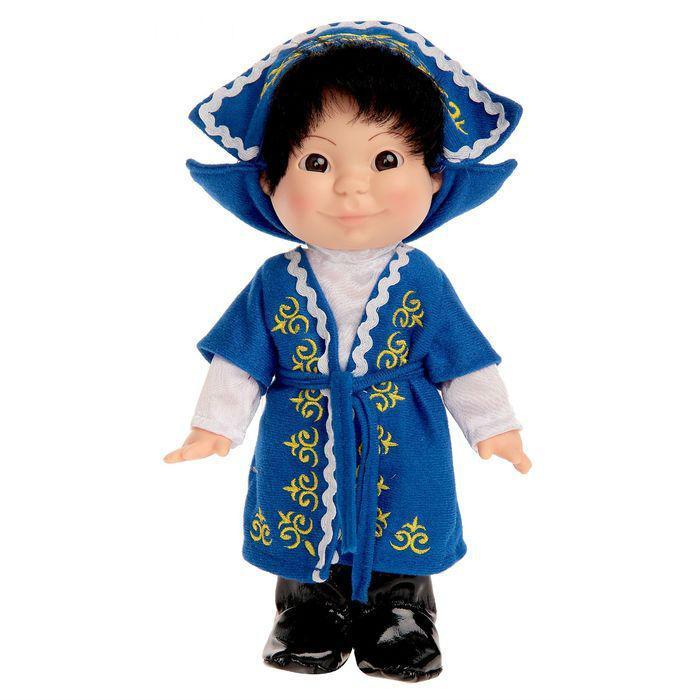 Кукла Веснушка в казахском костюме (мальчик)