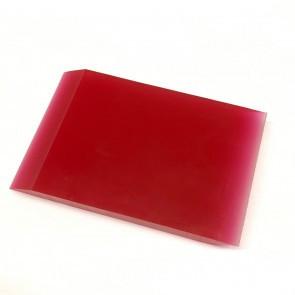 Ракель полиуретановый красный маленький, 100*75 мм