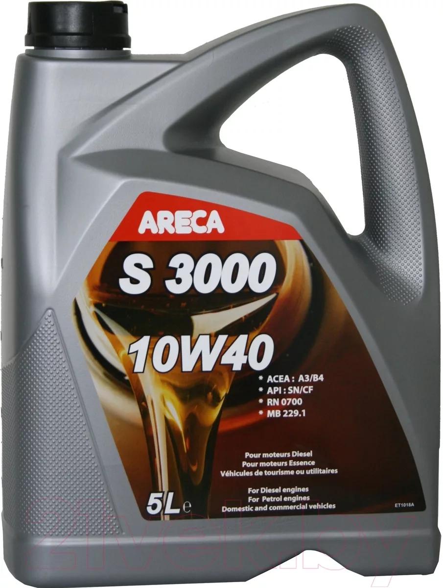 Моторное масло ARECA S3000 10w40 5 литров