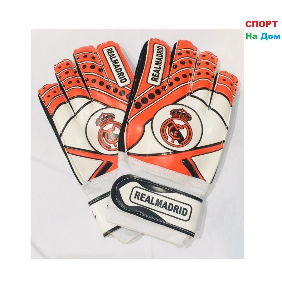 ВРАТАРСКИЕ ПЕРЧАТКИ Real Madrid Размер 5 (цвет красный)