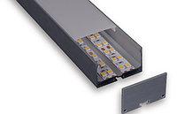 Led профиль, алюминиевый анодированный 50*32 С061
