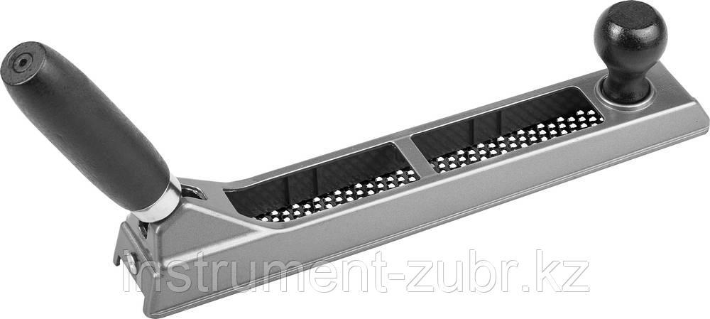 Рашпиль KRAFTOOL обдирочный, силуминовый с переставной ручкой, 250мм