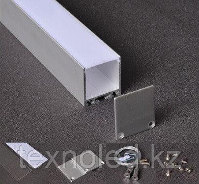 С силиконовым рассеивателем 35*35ММ алюминиевый профиль для светодиодной ленты