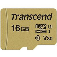 Карта памяти microSD 16Gb Transcend TS16GUSD500S