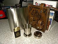 "Набор ""Медведь"" (14х18х9см).Фляжка 3 стакана, штопор, нож. 540 мл., фото 1"