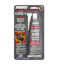 Герметик силиконовый ABRO 999 серый 85 гр.