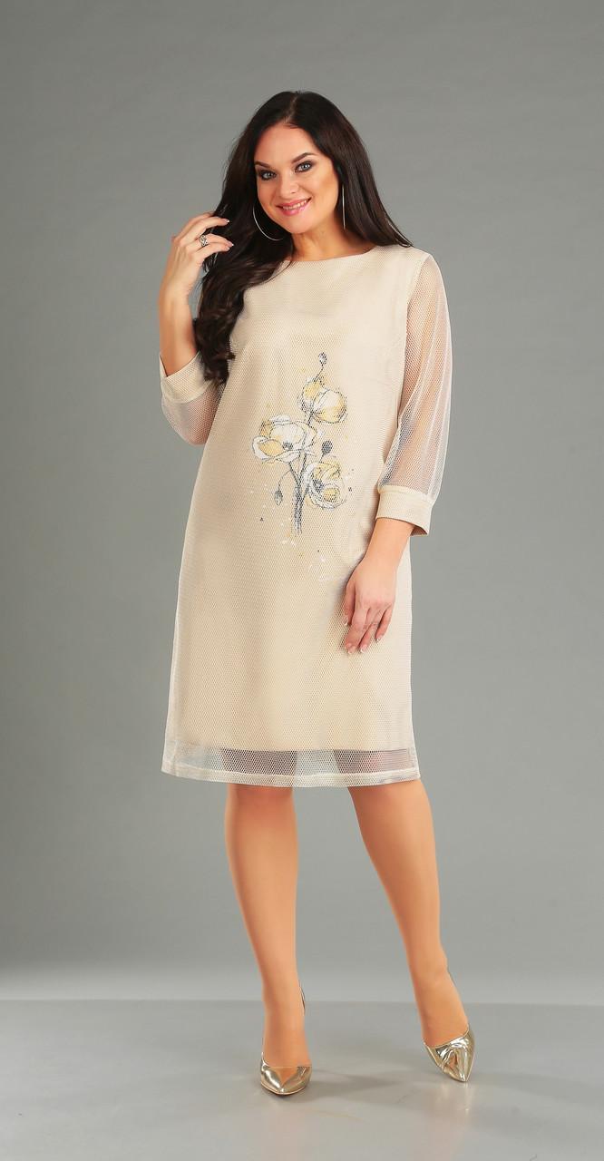 Платье Foxy Fox-54/1, молочный, 52