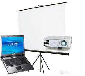 Аренда проектора в Шымкенте с полотном (экраном) на триноге!, фото 2