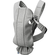"Рюкзак-Кенгуру BabyBjorn ""Mini Cotton Jersey"", 72 / Светло-серый"