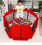 Игровой манеж с баскетбольным кольцом и шариками, фото 6