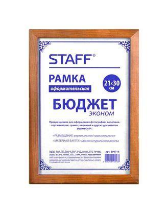 """Рамка деревянная для фотографий, дипломов, грамот """"Staff"""", 21x30см, коричневая"""